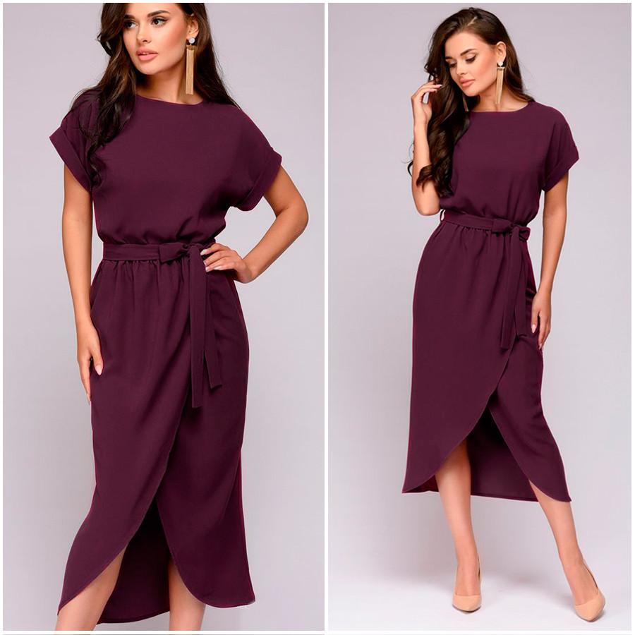 Платье цвета марсала Molly (Код 405)