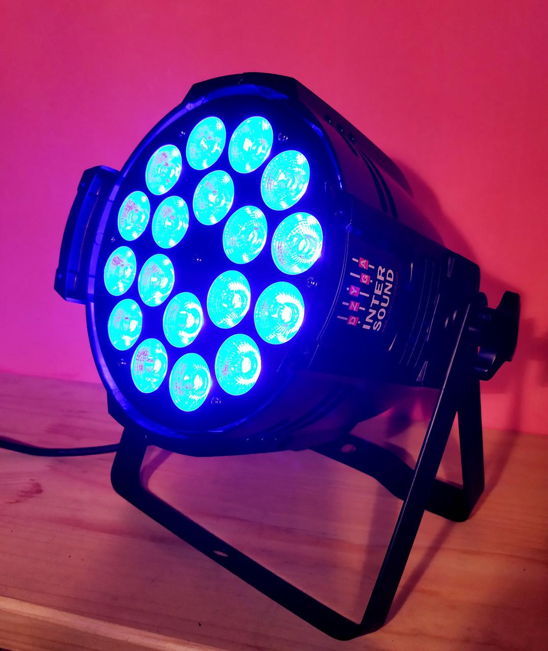Заливочный прожектор Led Par 18×18 6in1 RGBAW UV