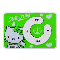 Детский MP3 плеер Hello Kitty зеленый