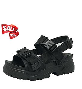 Спортивные сандалии женские в черном цвете 36 размер 22.5 см