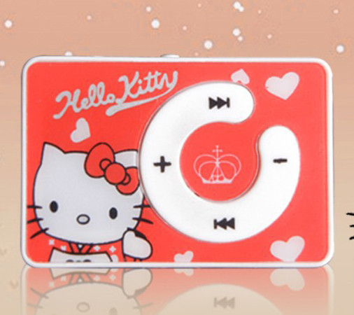 Детский MP3 плеер Hello Kitty красный