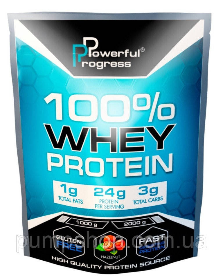 Сывороточный протеин Powerful Progress 100% Whey Protein 1000 г