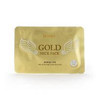 "Гидрогелевая маска для шеи с плацентой Petitfee&Koelf ""HYDROGEL ANGEL WINGS"" Gold Neck Pack, фото 1"