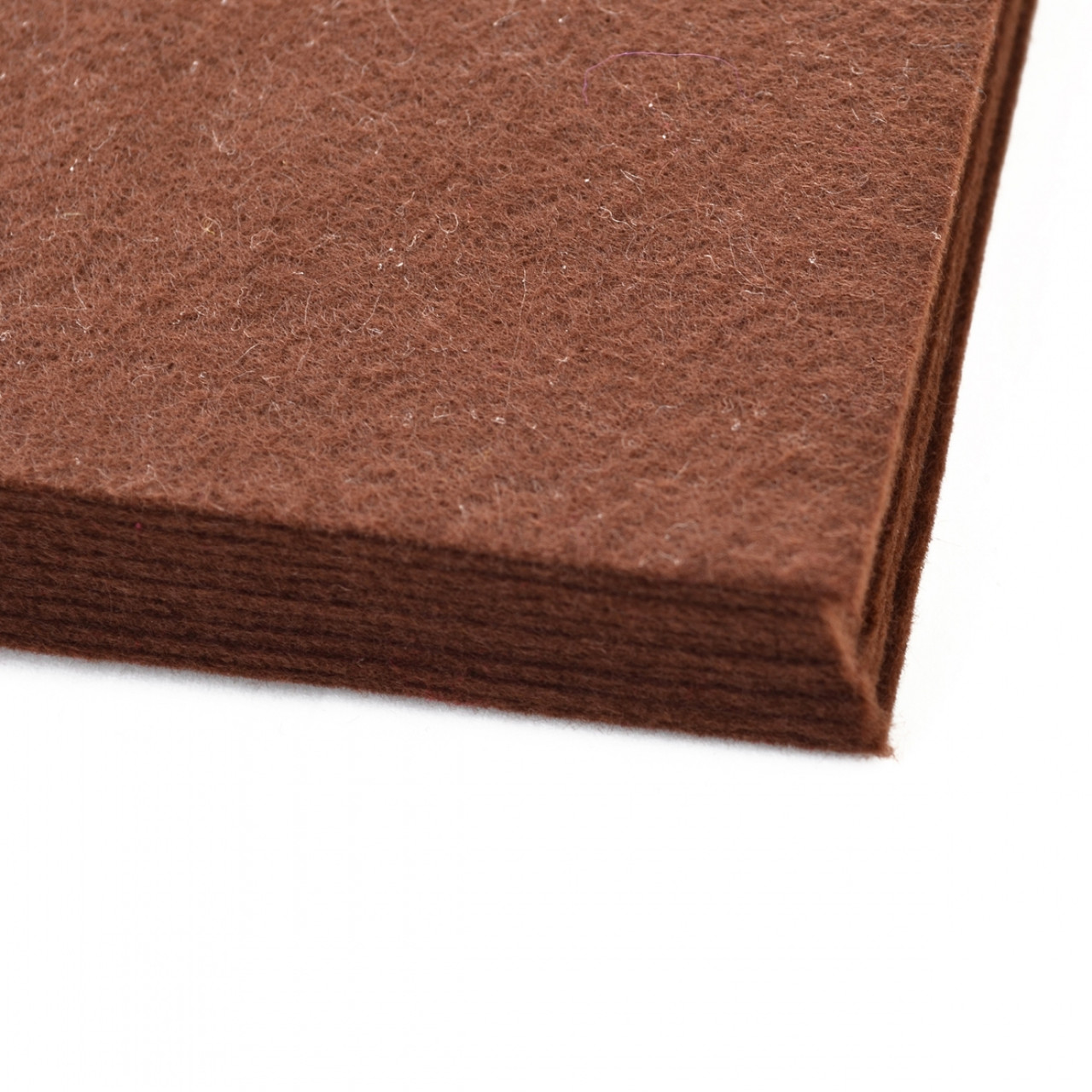 Набір фетр  м'який темно коричневий , 21*30см (10 л.) Santi