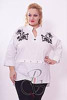 Женская блуза рубашка больших размеров Kapris (Каприз) Турция, фото 1