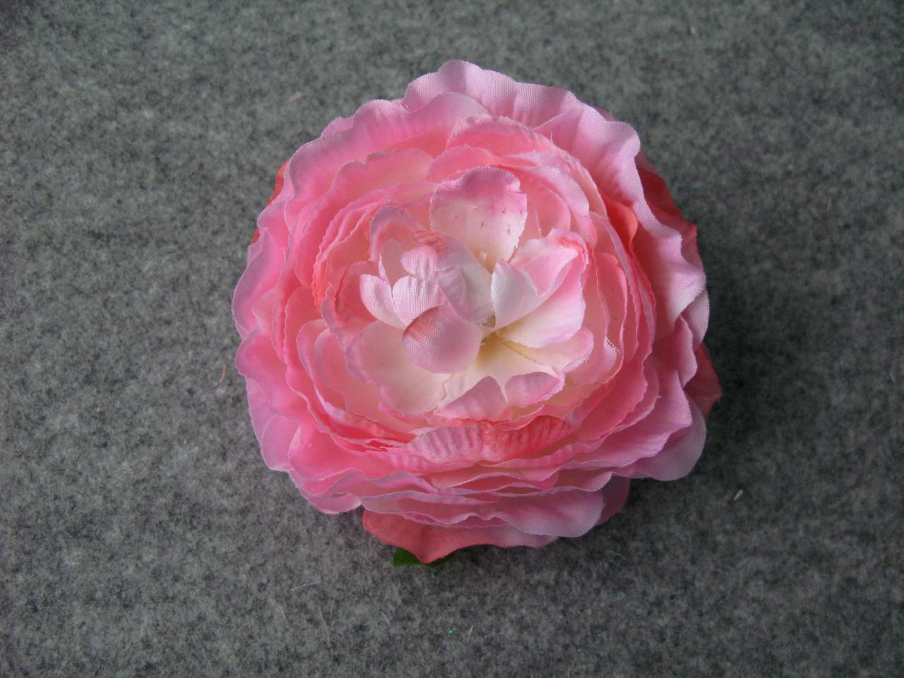 Пион искусственный 9-10 см розовый (головка без листьев)