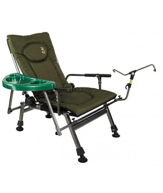 Кресло карповое M-Elektrostatyk F5R ST/P+POD подставка для ног