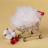 Синтепух Fior Textile, корейский первичный, 3 dtex, белый (скидки от 5кг и 10кг)