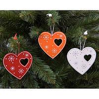 """Подвеска на елку """"Сердце"""" NG274, 10*9 см, MDF, Новогодние сувениры, Украшения новогодние, Игрушки на елку"""