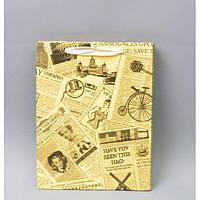 """Подарочный пакет """"Газетные вырезки"""" маленький TF323-2"""
