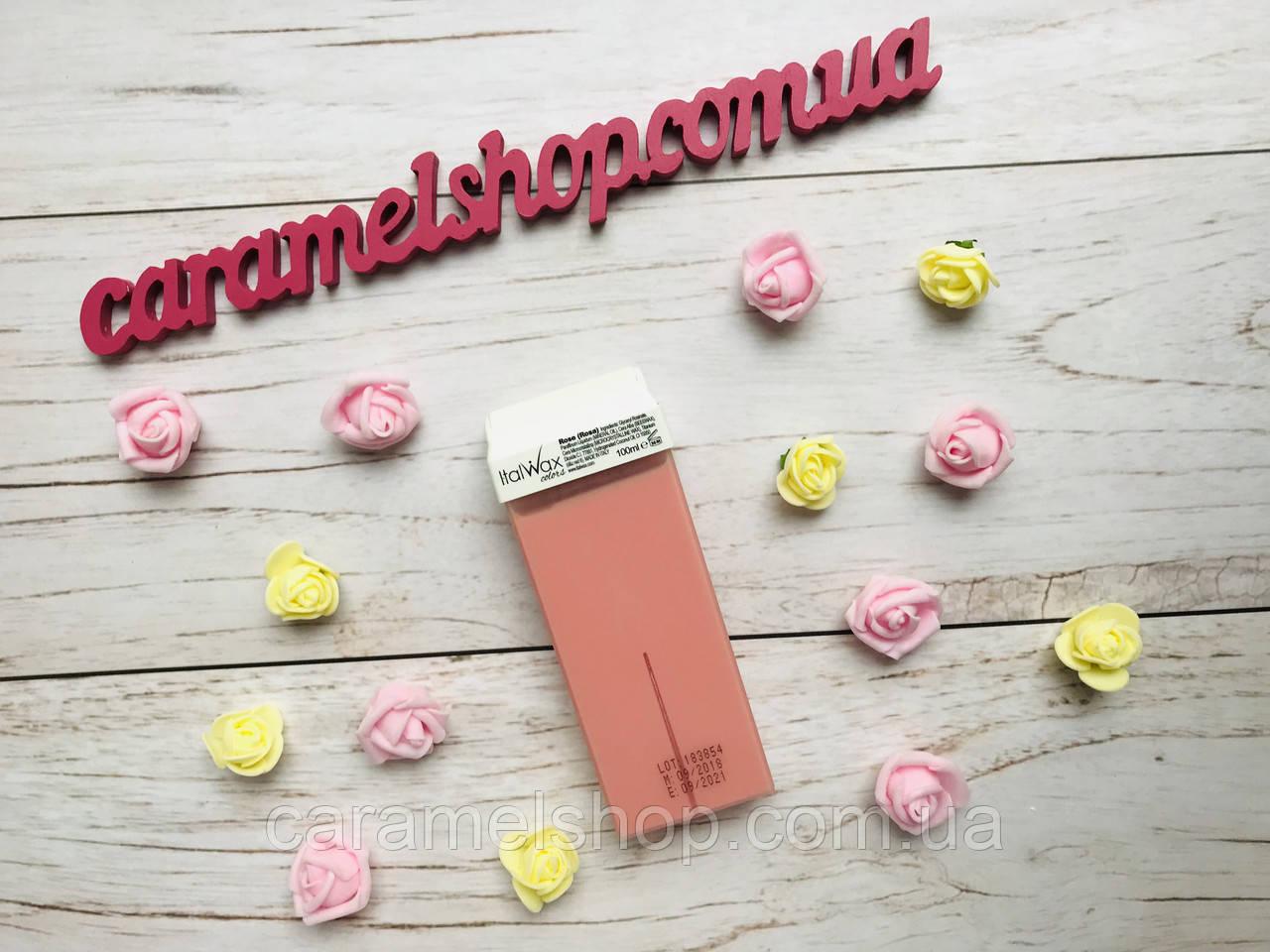 Воск для депиляции кассета картридж ItalWax Rose (Rosa) 100 г - роза