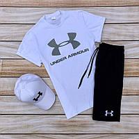 Комплект мужской Шорты + футболка Under Armour | Спортивный костюм летний мужской Андер Армур ЛЮКС качества