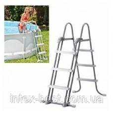 Лестница для бассейна Intex 28075 (107 см), со съемными ступенями, фото 3
