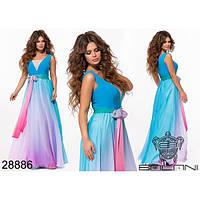 """Очень красивое вечернее платье """"Омбре"""", голубое"""