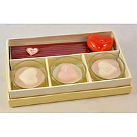 """Набор аксессуаров для спа - процедур """"Romantic"""" R09, размер 10х16.5х3 см, в наборе 3 предмета, в коробке, спа набор, набор ароматический"""