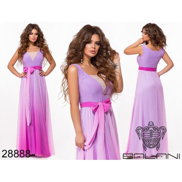 """Очень красивое вечернее платье """"Омбре"""", фиолет"""