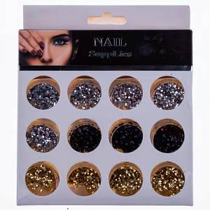 Фольга для ногтей Nail Supplies(19-1), 12шт
