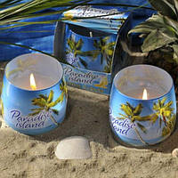 Свеча Парадис в стакане S964, 4 разных аромата, в упаковке 12 шт, морская тематика, морские сувениры, сувенир