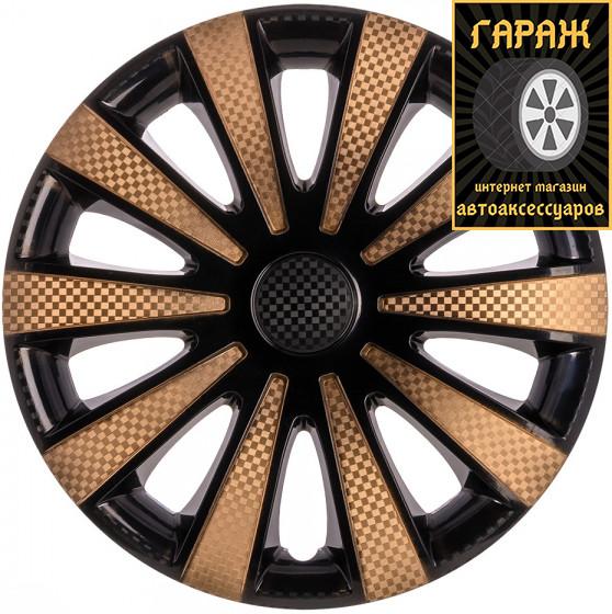 Колпаки R13 Star Карат Super Black Gold (карбон)