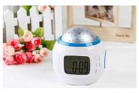 Часы-будильник с проектором звездного неба Music And Starry Sky Calendar