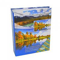 """Фотоальбом картонный для фотографий """"Photos"""" AB2006, размер 17х22 см, на 200 фотографий, 3 вида, альбом для фото, фото-альбом"""
