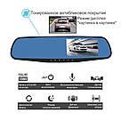 Автомобільне дзеркало відеореєстратор для авто на 2 камери VEHICLE BLACKBOX DVR 1080p камерою заднього виду, фото 8