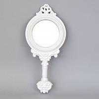 """Зеркало ручное для макияжа """"Beautiful"""" PR1520, материал MDF, 33х15 см, зеркало для оформления интерьера, зеркало декоративное, зеркало в прихожую"""