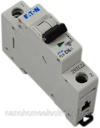 Автоматический выключатель Eaton-Moeller PL4-C 1P 16A  - NanohomeElectro в Днепре