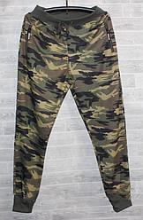 Спорт штаны мужские на манжете камуфляж M-3XL (деми)