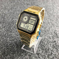 Часы наручные Casio AE-1200 Gold-Black (Реплика А)
