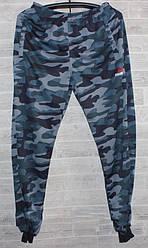 Спорт штаны мужские на манжете камуфляж reebok M-3XL (деми)