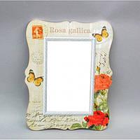 "Зеркало настенное для декора ""Прованс"" YG206, дерево, 40х30 см, зеркало для оформления интерьера, зеркало декоративное, зеркало в прихожую"