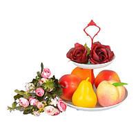 """Фруктовница металлическая для фруктов """"Mango"""" CH440, размер 25x21 см, корзинка для фруктов, ваза под фрукты, посуда для фруктов"""
