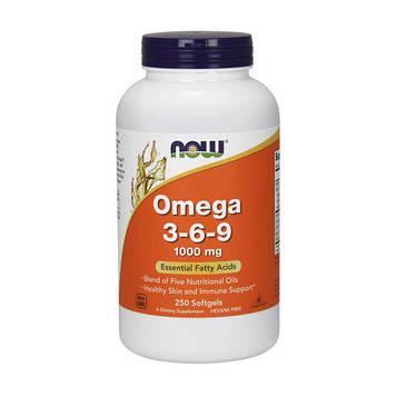 Omega 3-6-9 (250 softgels) 1000 мг жирные кислоты NOW
