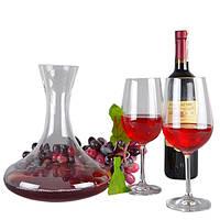 """Набор винный для декантирования """"Expert"""" VB073, размер декантера 25х20 см, объем 2 л, в комплекте 4 бокала, стекло, набор для вина, подарочный набор"""