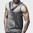 [ОПТ] Чоловіча сумка через плече Кобура РЮКЗАК Cross Body (Сіра), фото 5