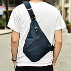 [ОПТ] Чоловіча сумка через плече Кобура РЮКЗАК Cross Body (Сіра), фото 8