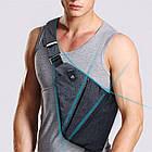 [ОПТ] Чоловіча сумка через плече Кобура РЮКЗАК Cross Body (Сіра), фото 9