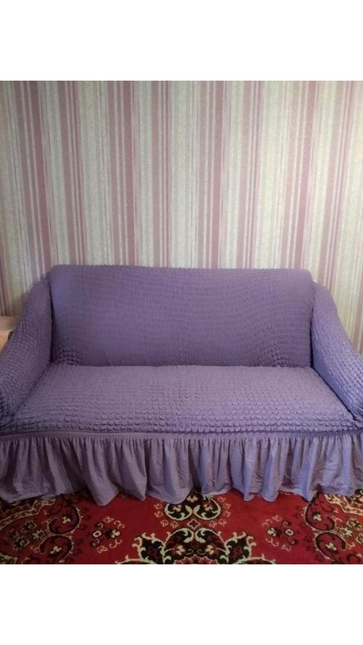 Чехол на диван трехместный, Турция, сереневый
