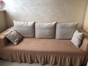 Чехол на диван трехместный, Турция, бордо