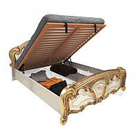 Двоспальне ліжко 160х200 з підйомним механізмом у спальню Реджина Радіка Беж - Золото Міромарк