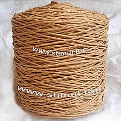 Шпагат бумажный декоративный 2 кг х 1200 м / бумажная веревка / крафт бумага для ручек