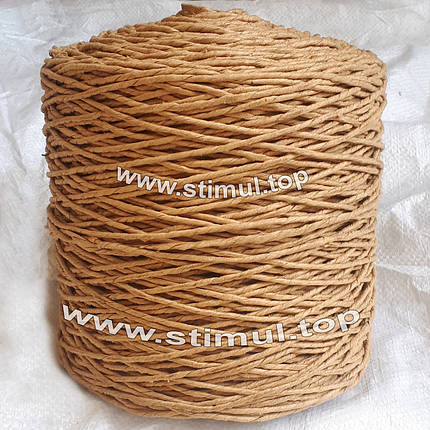 Шпагат бумажный декоративный 2 кг х 1200 м / бумажная веревка / крафт бумага для ручек, фото 2