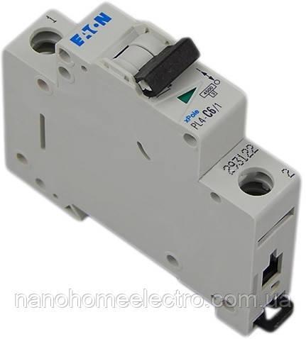 Автоматический выключатель Eaton-Moeller PL4-C 1P 63A  - NanohomeElectro в Днепре