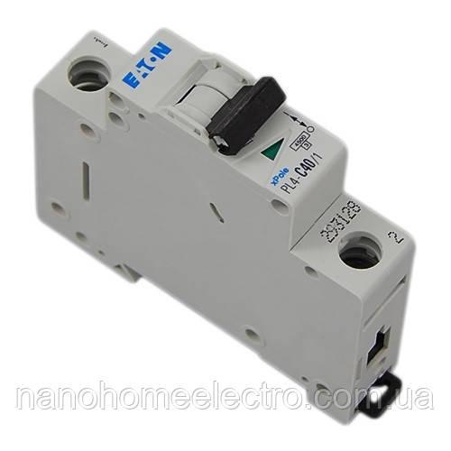 Автоматический выключатель Eaton-Moeller PL4-C 1P 40A