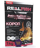 Прикормка RealFish Карп Кислая Груша 1кг