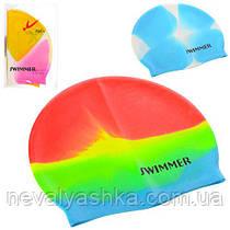 ШАПОЧКА ДЛЯ ПЛАВАНИЯ 21,5 х 18,5 см, 3 цвета, в кульке ШАПОЧКА ДЛЯ ПЛАВАННЯ MSW 016 011041