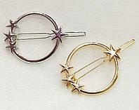 Заколка для волос Космос (цвет серебро или золото), фото 1