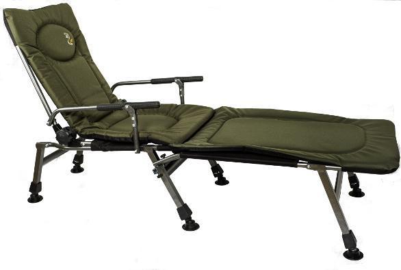 Кресло карповое M-Elektrostatyk F5R+POD подставка для ног