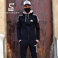 Мастерка мужская в стиле Adidas Beik черная, фото 1